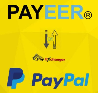 Use Pay Exchanger to exchanger payeer to paypal